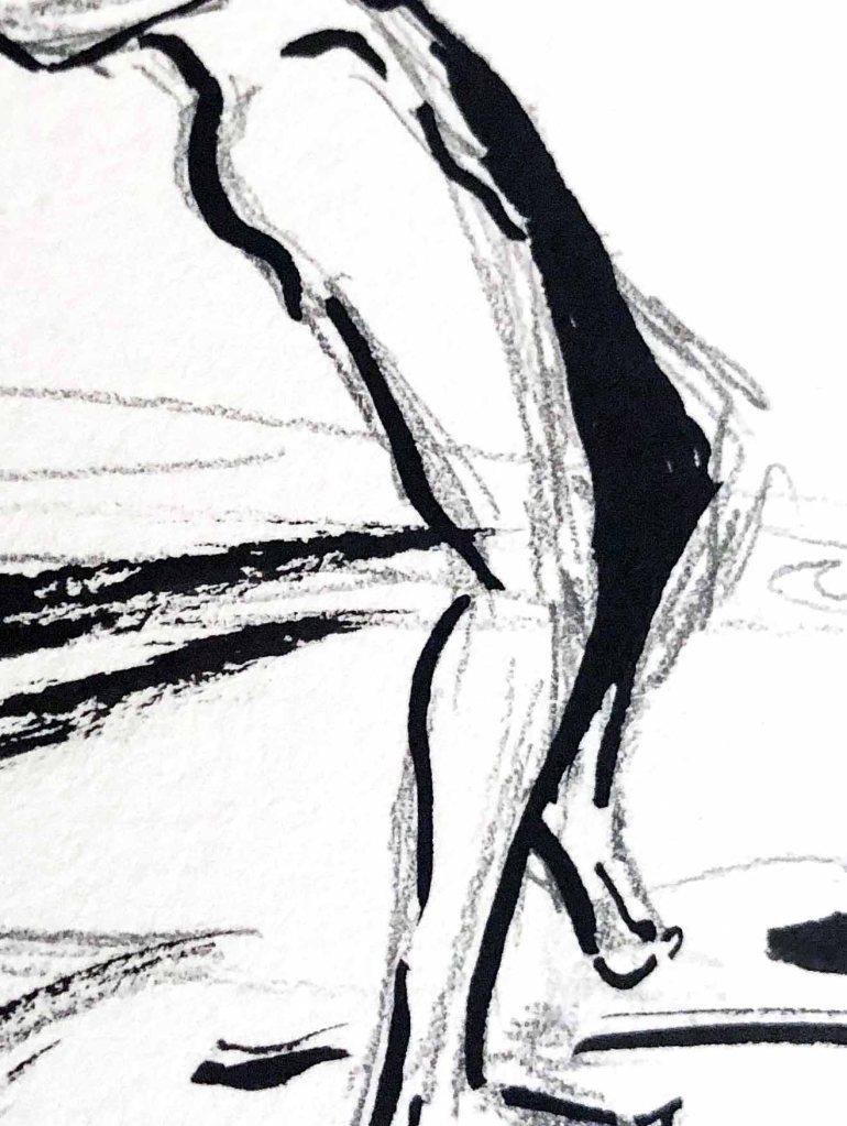 Abstractlab  dessin à l'encre et crayon  artiste peintre